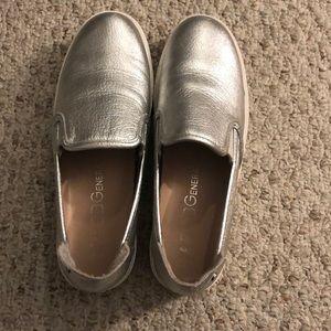BCBG Silver Flats